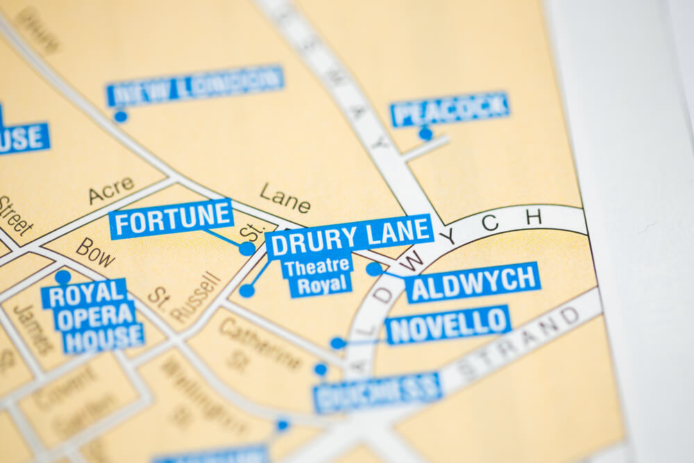 Drury Lane London Map on