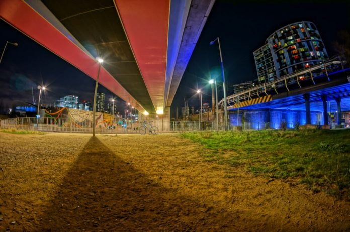 London Olympic Park at Night