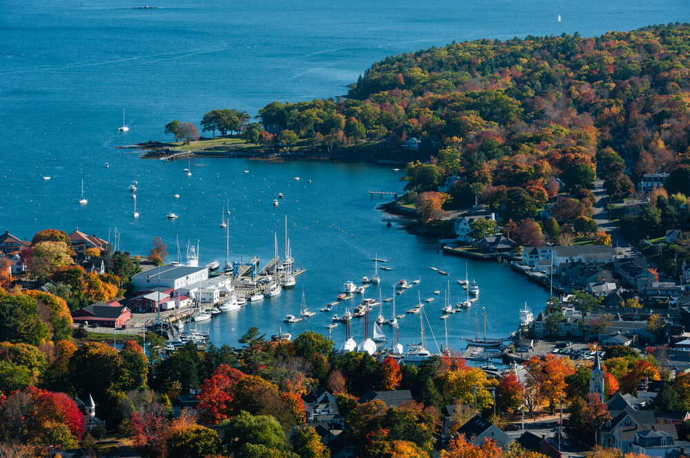 aerial-view-of-camden-harbor-maine-with-fall-foliage