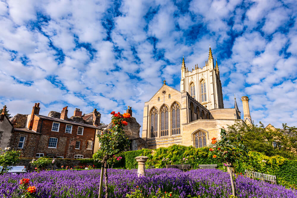Bury St Edmunds Cathedral at dawn