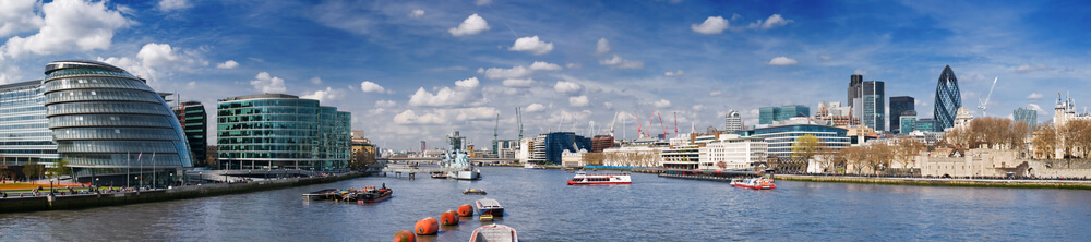Panoramic picture of City of London